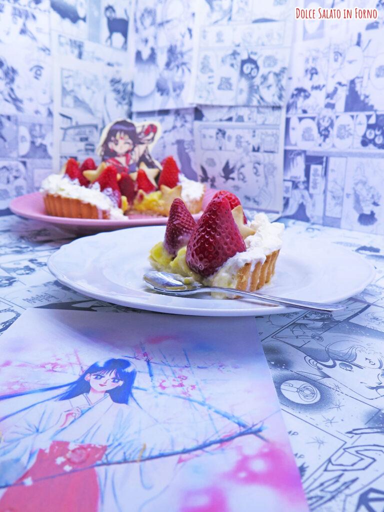 crostata di fragole e crema pasticcera di Sailor Mars