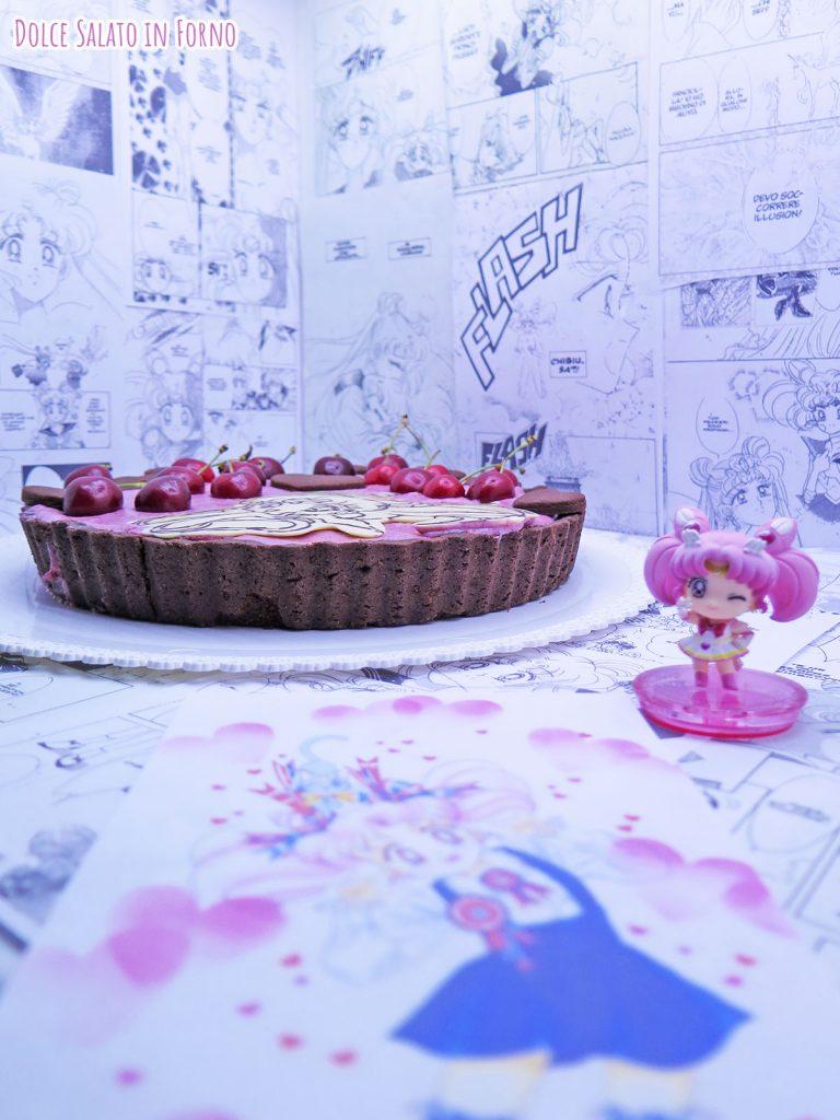 Crostata frangipane al cacao e mousse alle ciliegie di Sailor ChibiMoon