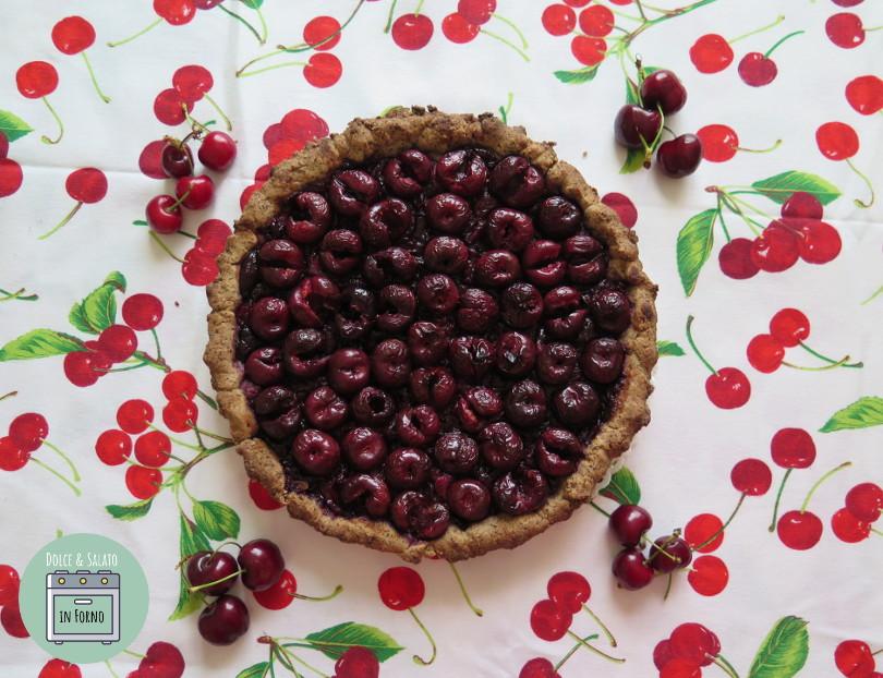 Crostata alle ciliegie e grano saraceno senza glutine