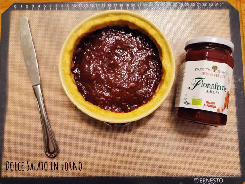 Crostata sablè marmellata lamponi Rigoni di Asiago