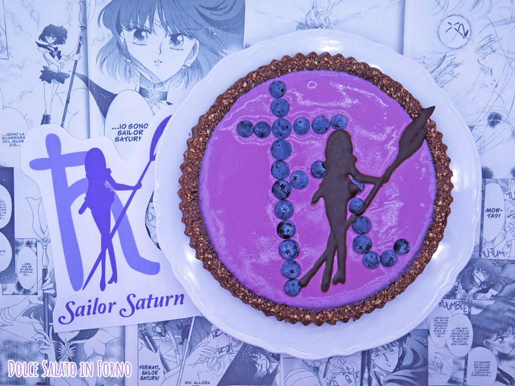 Crostata al muesli al cioccolato e yogurt mirtilli di Sailor Saturn