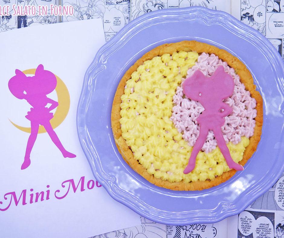 Crostata alla crema pasticcera e namelaka fragola Sailor Chibiusa