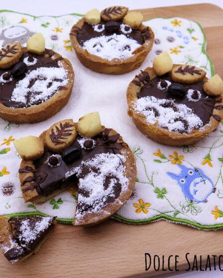 Crostatine pere e cioccolato a forma di Totoro