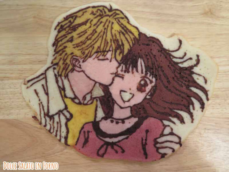 decorazione biscotto tegola al burro di Miki e Yu di Marmalade Boy