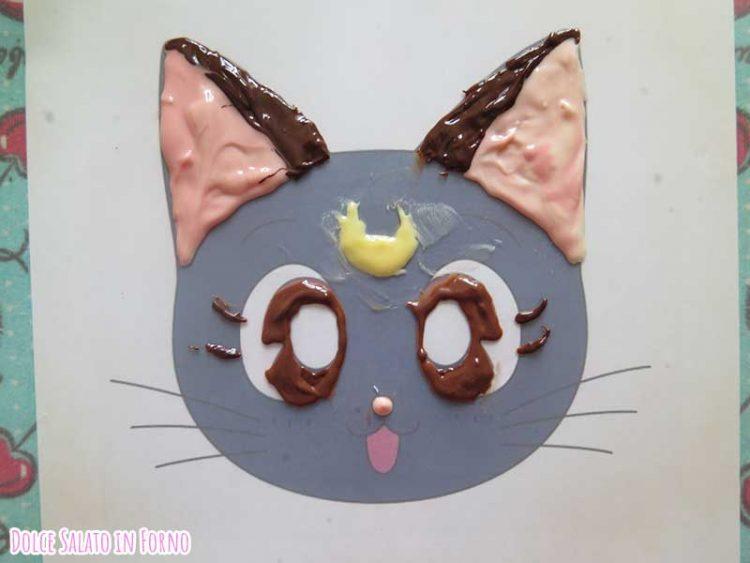 decorazione di Luna Sailor Moon di cioccolato