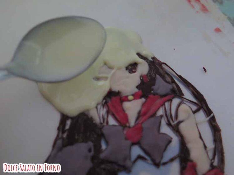 decorazione cioccolato sailor Mars
