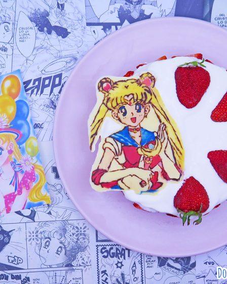Doppia cheesecake alle fragole e vaniglia di Sailor Moon
