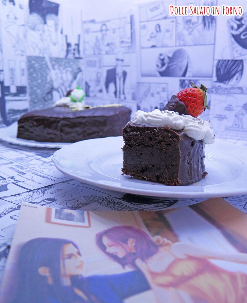 Fetta di brownie al cioccolato fondente di Nana Komatsu di San Valentino