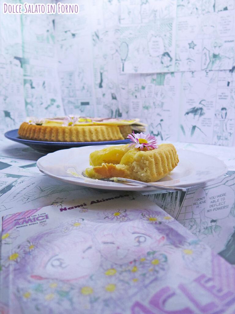 Fetta di Crostata morbida camomilla, miele e limone di è un po' magia per Terry e Maggie