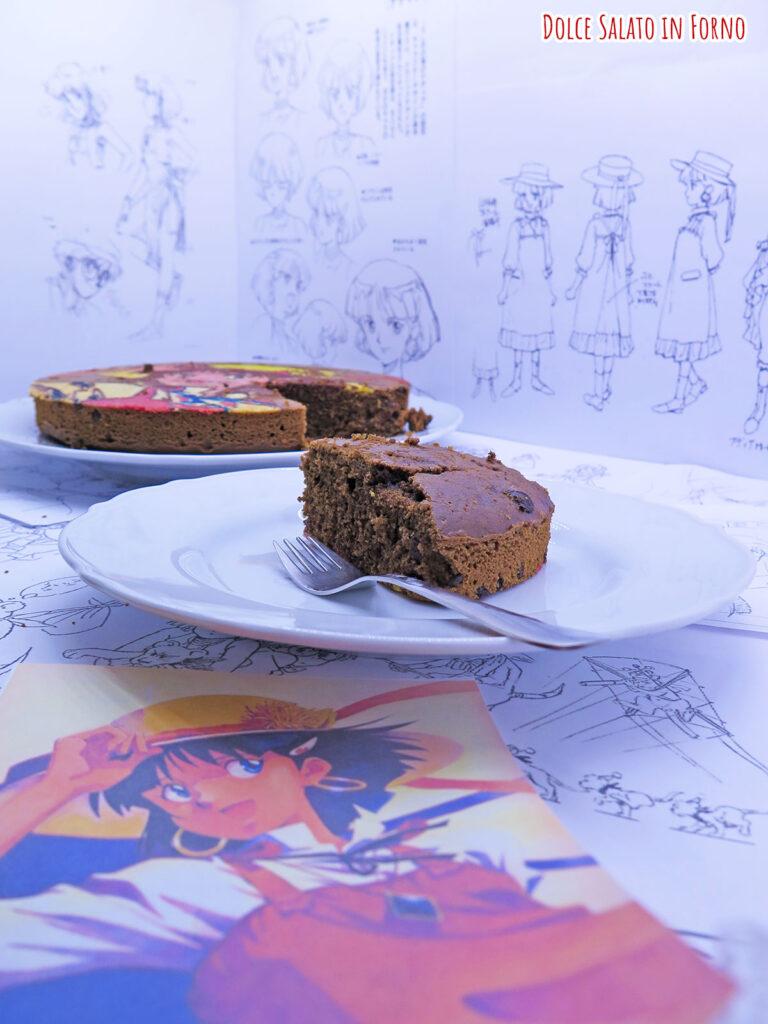 fetta Torta al caffè e cioccolato di Nadia mistero della pietra azzurra