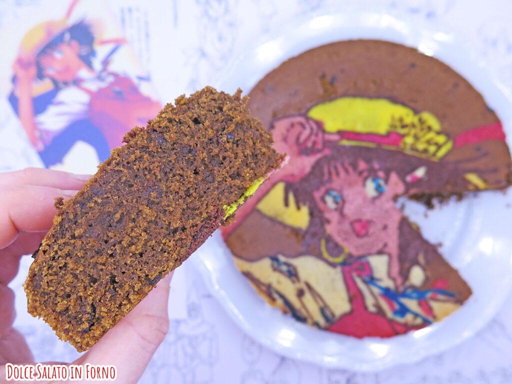 fetta Torta al caffè e cioccolato di Nadia the secret of blue water