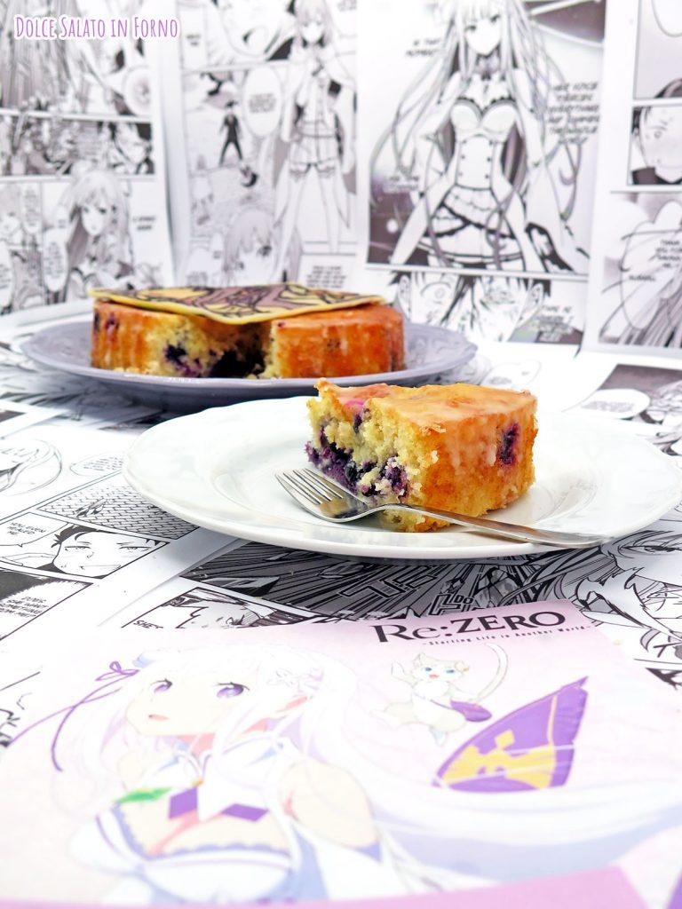 Fetta di torta ai mirtilli freschi e limone di Emilia di Re:Zero - Starting a new life in another world