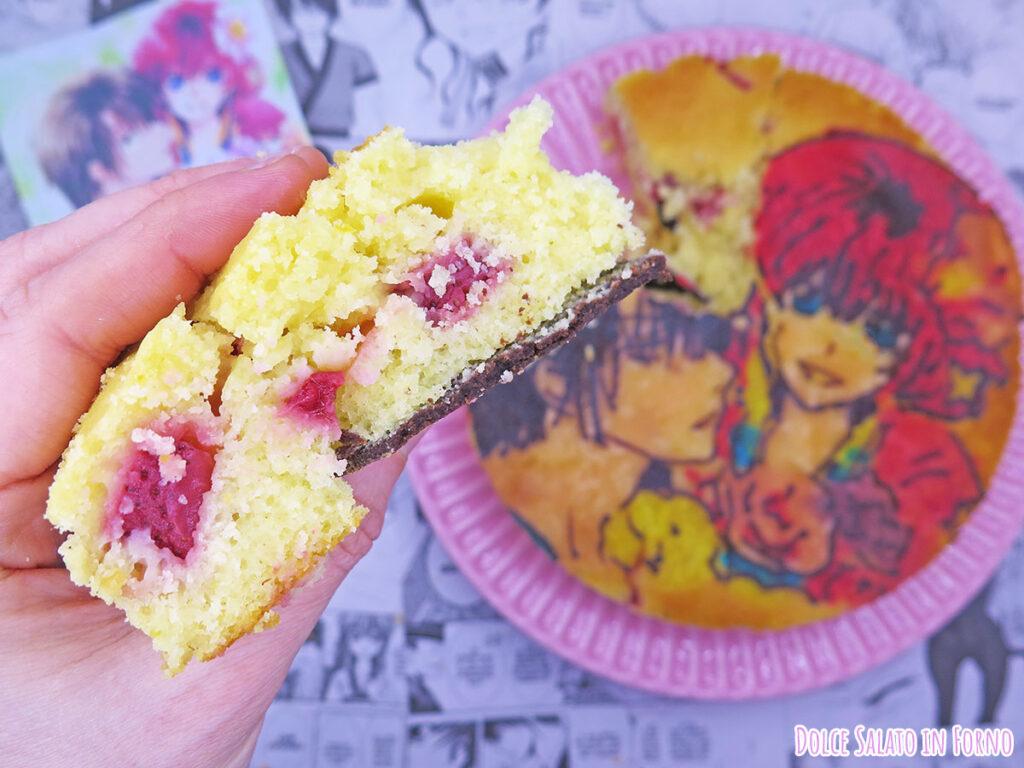 Fetta di torta soffice alle fragole limone e yogurt di Yona e Hak