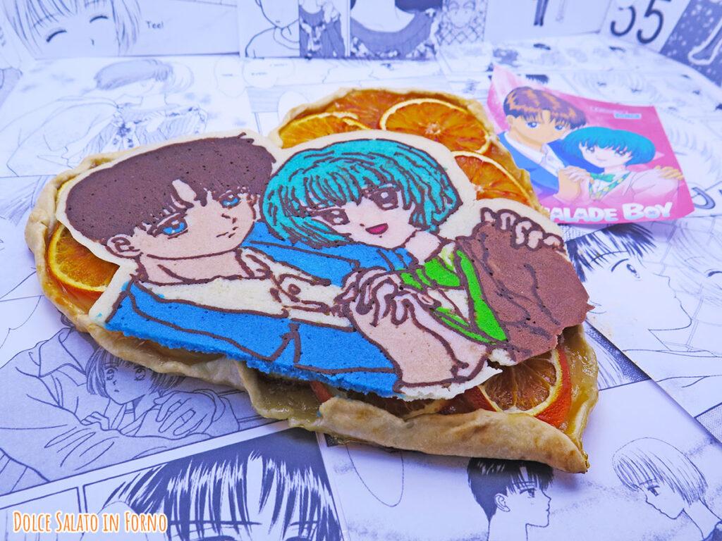 Galette all'arancia a forma di cuore di Ginta e Arimi di Marmalade Boy