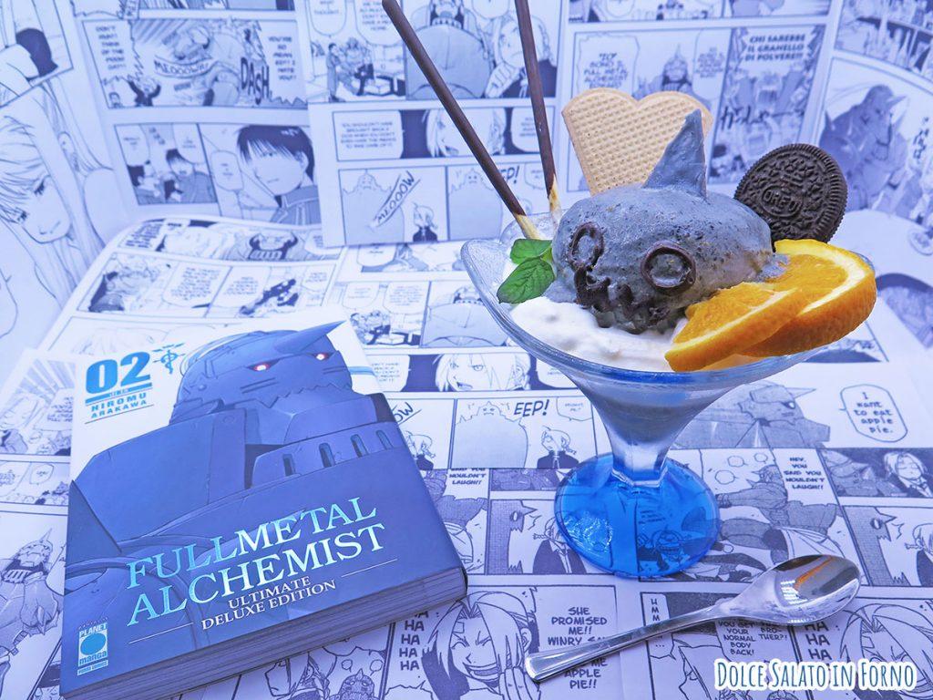 Gelato al sesamo nero a forma di Alphonse Elric di Fullmetal Alchemist