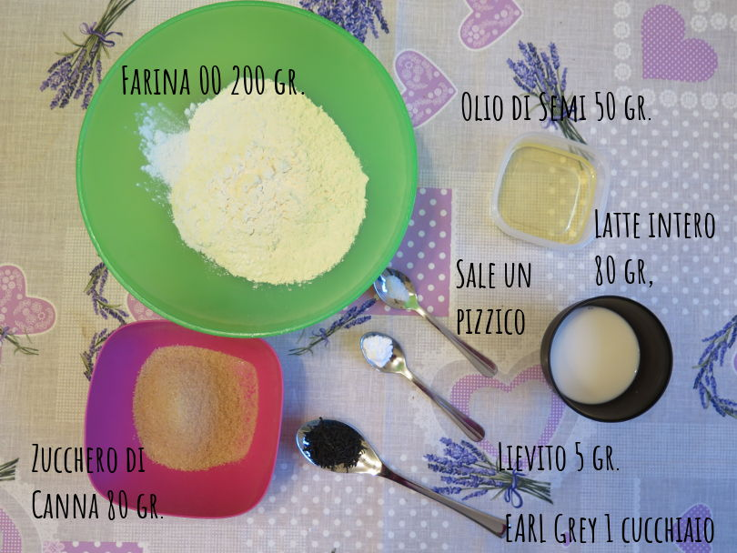 Ingredienti biscotti al tè Earl Grey senza burro e senza uova