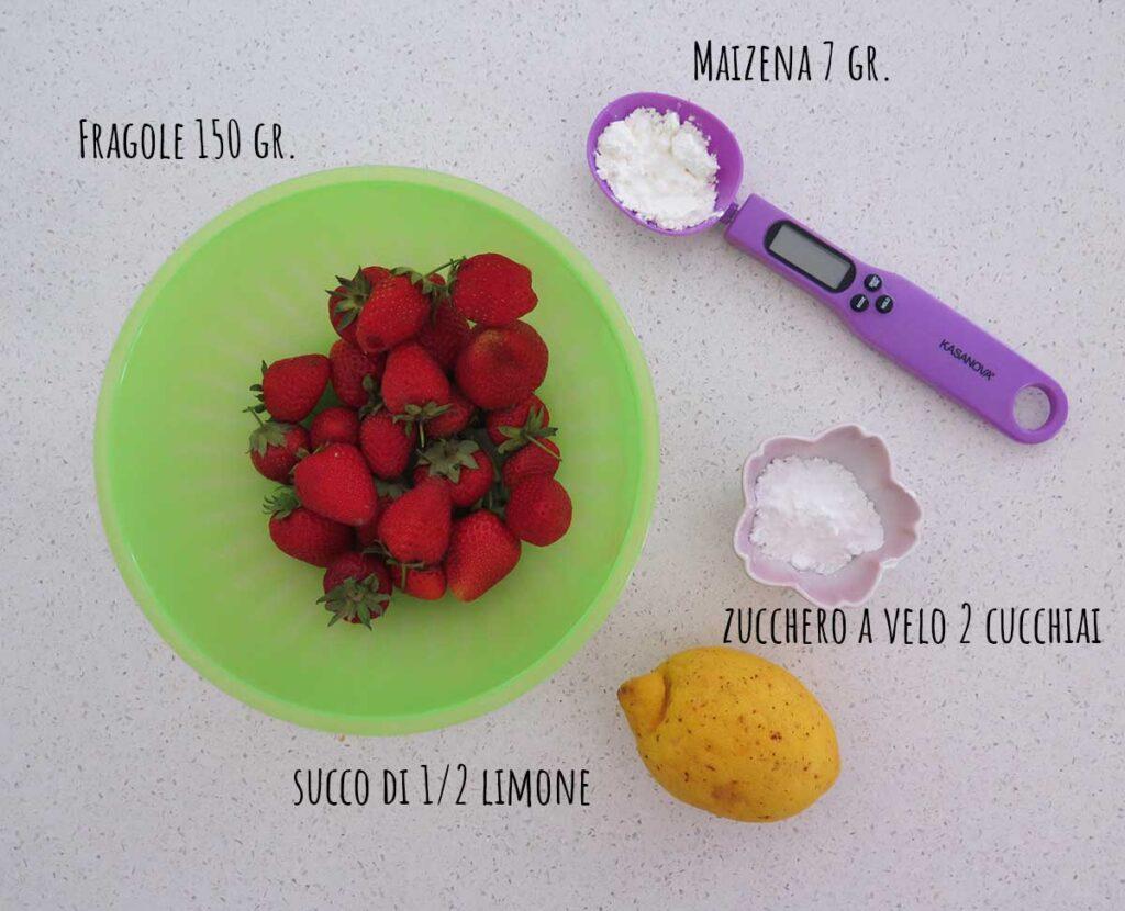 Ingredienti crema alle fragole senza uova