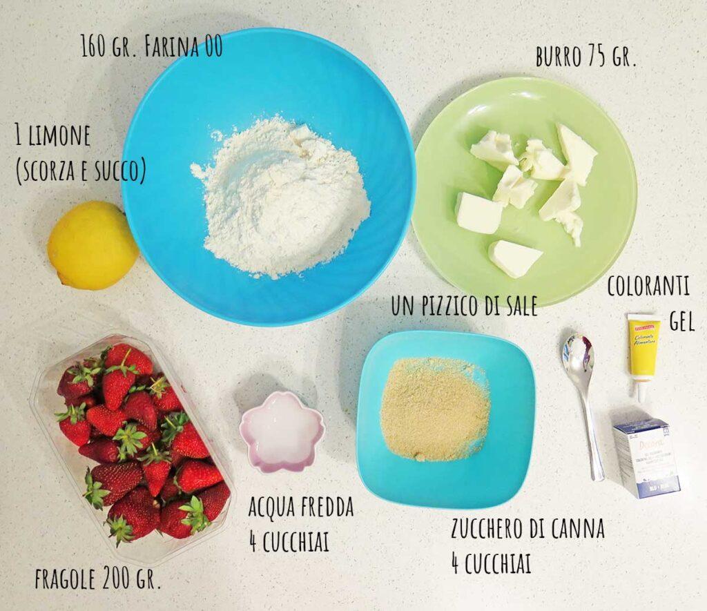 ingredienti galette di fragole