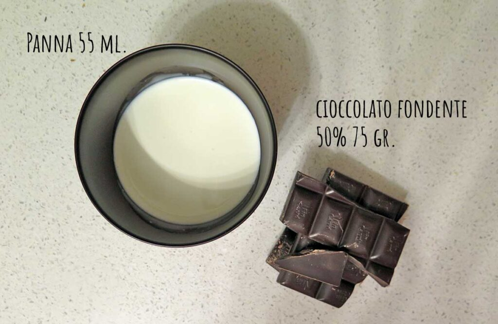 Ingredienti ganache cioccolato fondente