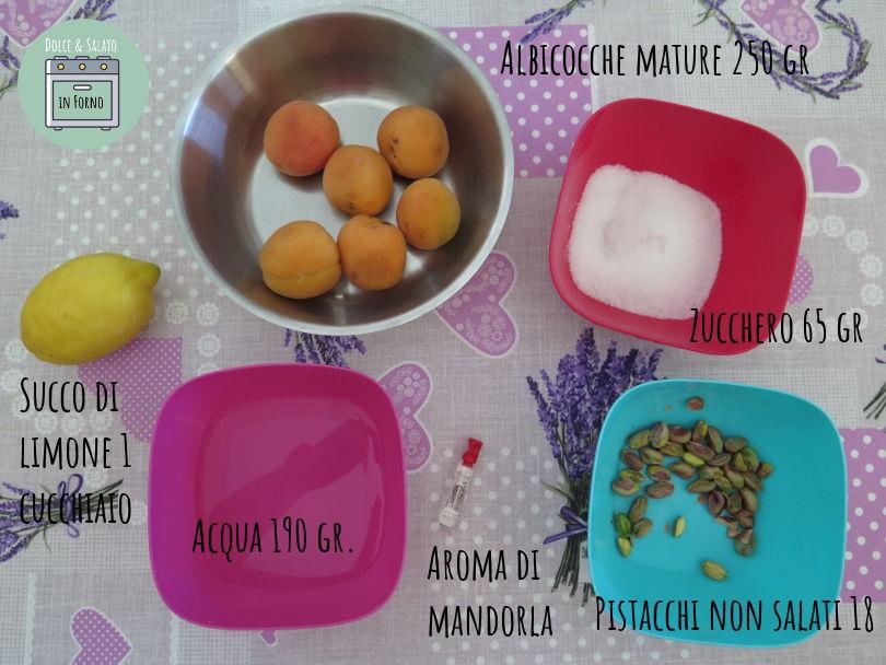 ingredienti ghiaccioli albicocca pistacchi