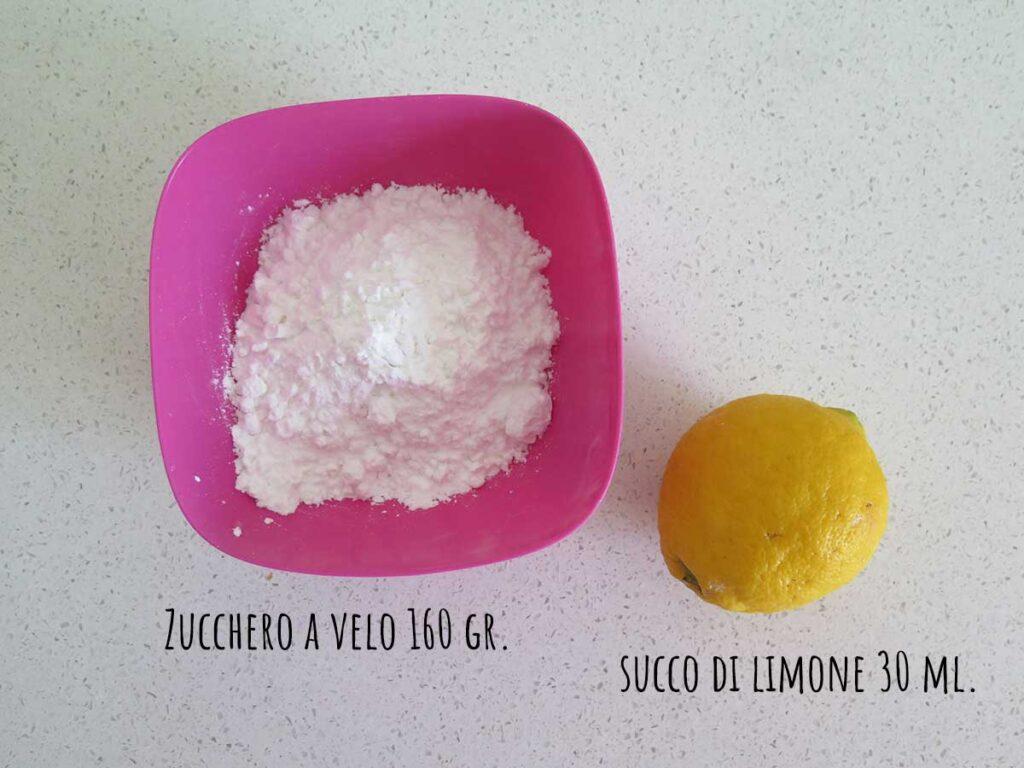 Ingredienti glassa al limone