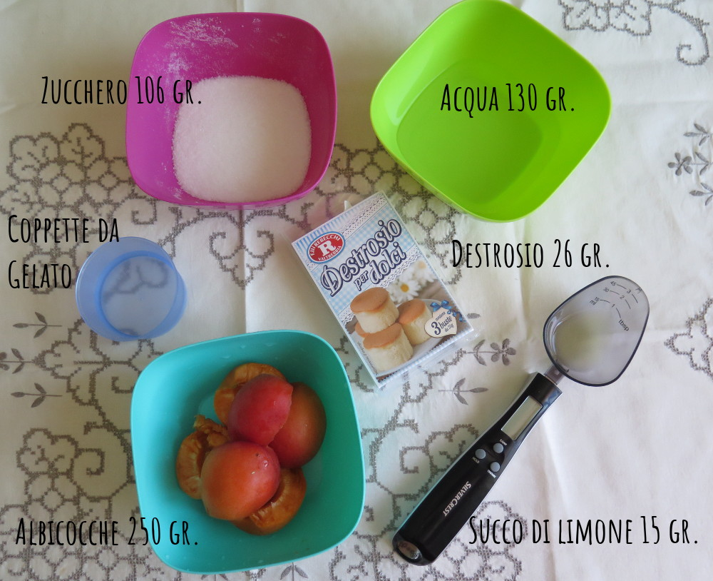 Ingredienti sorbetto albicocche
