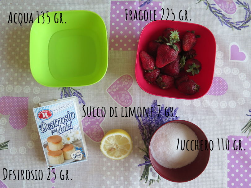 Ingredienti sorbetto fragola