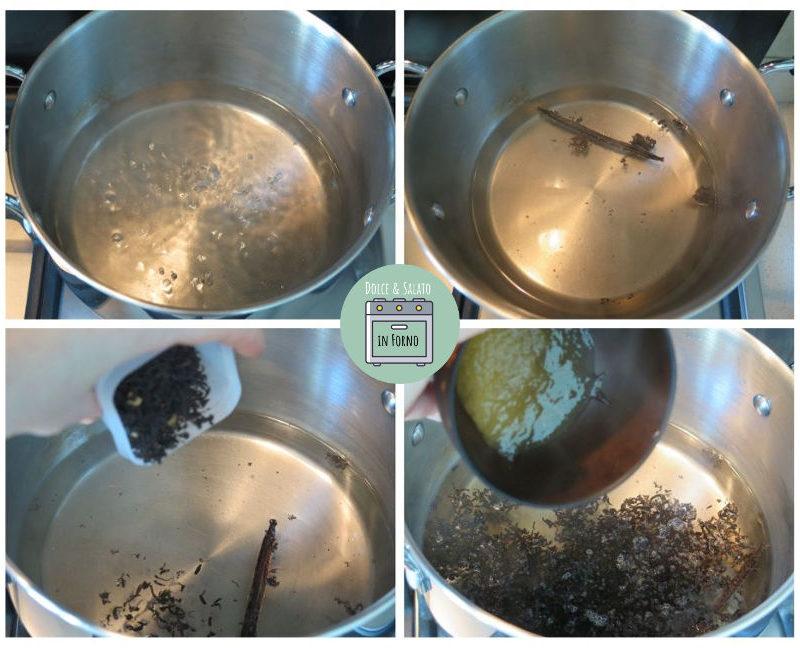 aggiungere infusione ingredienti sorbetto tè nero e miele