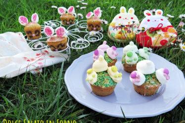 Muffin alle carote light senza uova senza burro a forma di coniglietti
