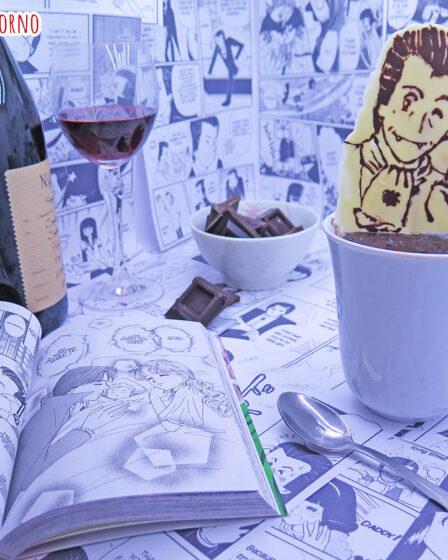 Mug cake al vino rosso e cioccolato fondente di Mori Eto di Tokimeki Tonight