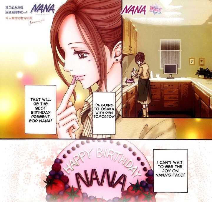 Nana Komatsu prepara torta di compleanno per Nana Osaki nel manga