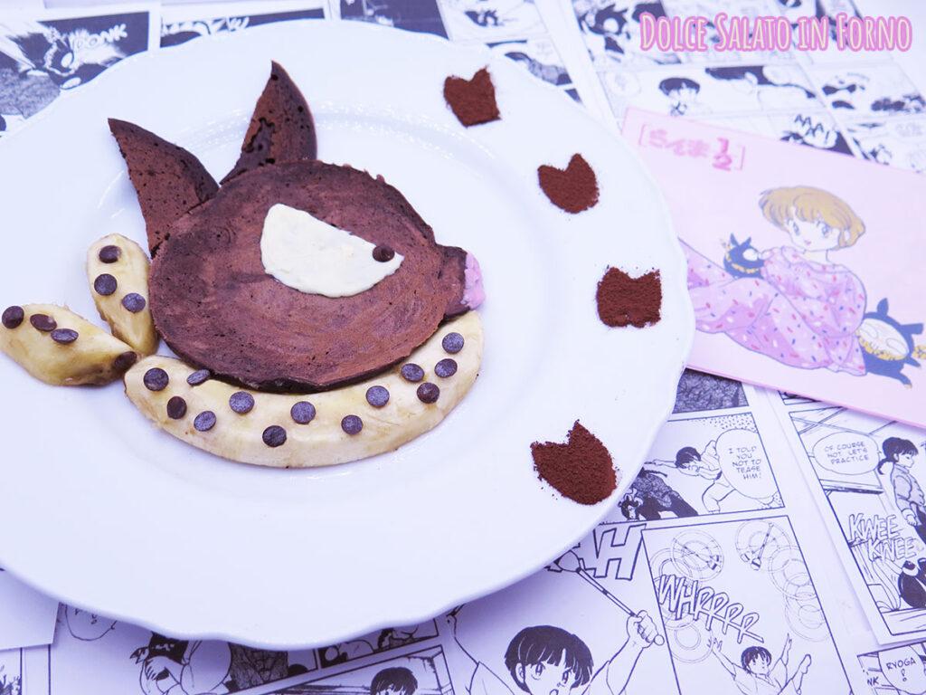 pancake al cacao a forma di Pchan di Ranma
