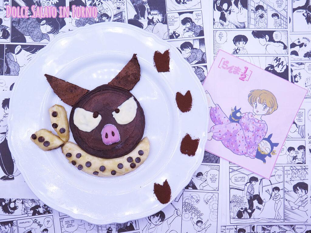 Pancake al cioccolato di P-chan di Ranma 1/2