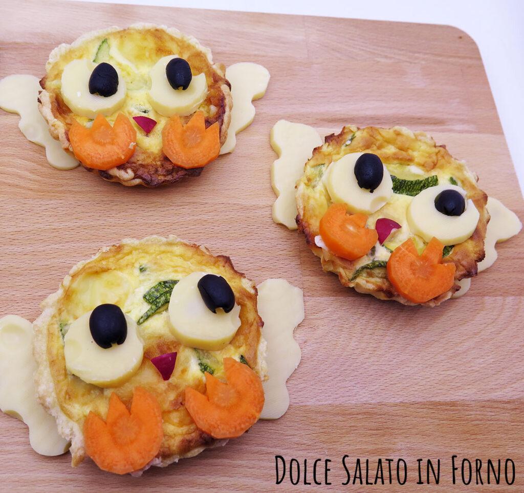 Quiche pasquali zucchine emmental pulcino