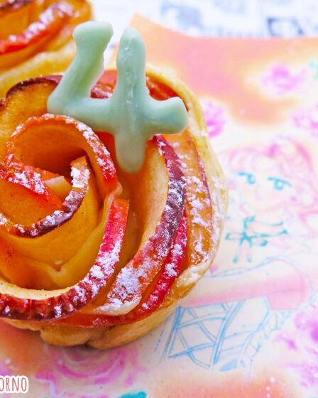 Roselline di pasta sfoglia e mele di Sailor Jupiter Makoto Kino