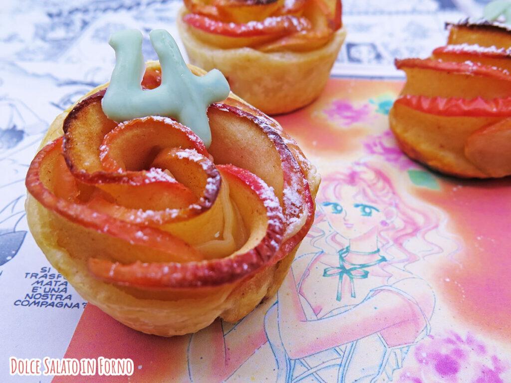Roselline di mela e pasta sfoglia di Sailor Jupiter Makoto Kino