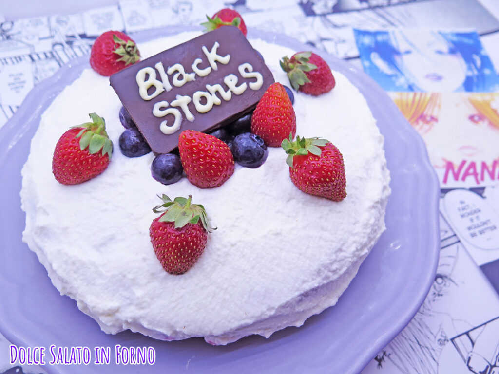 Shortcake giapponese fragole mirtilli Nana Black Stones