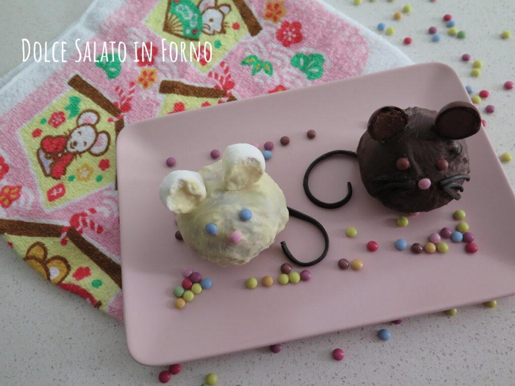 Topini brioche cioccolato ciliegie ricoperti di cioccolato