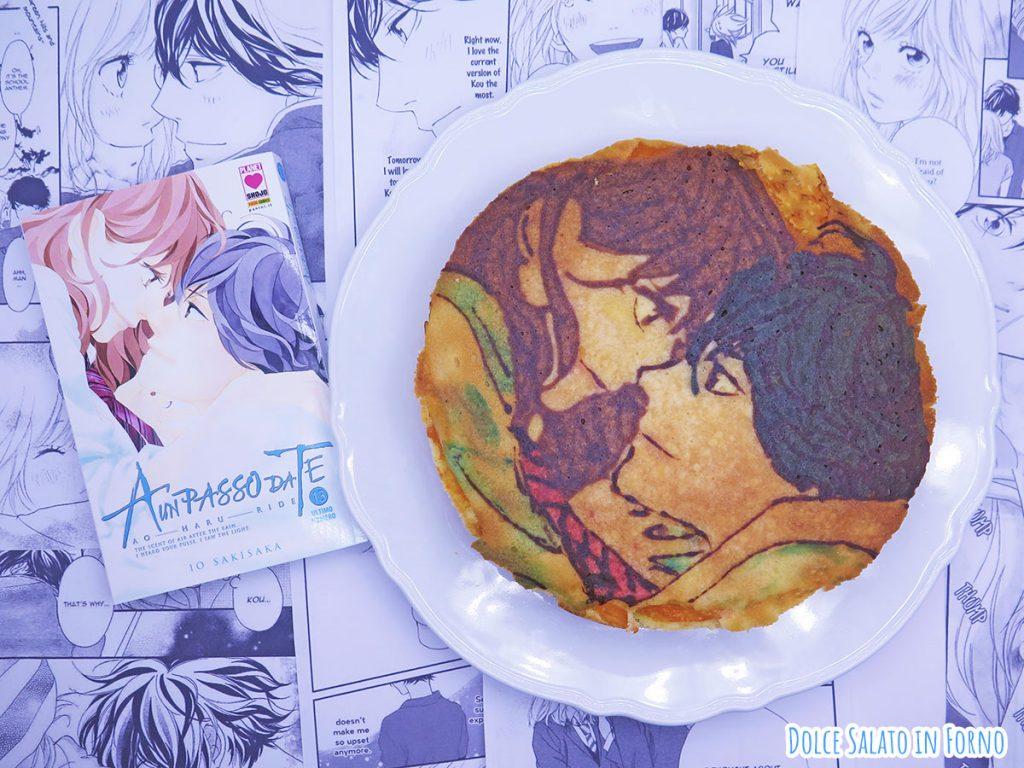 Torta albicocche fresche e yogurt di Ao Haru Ride