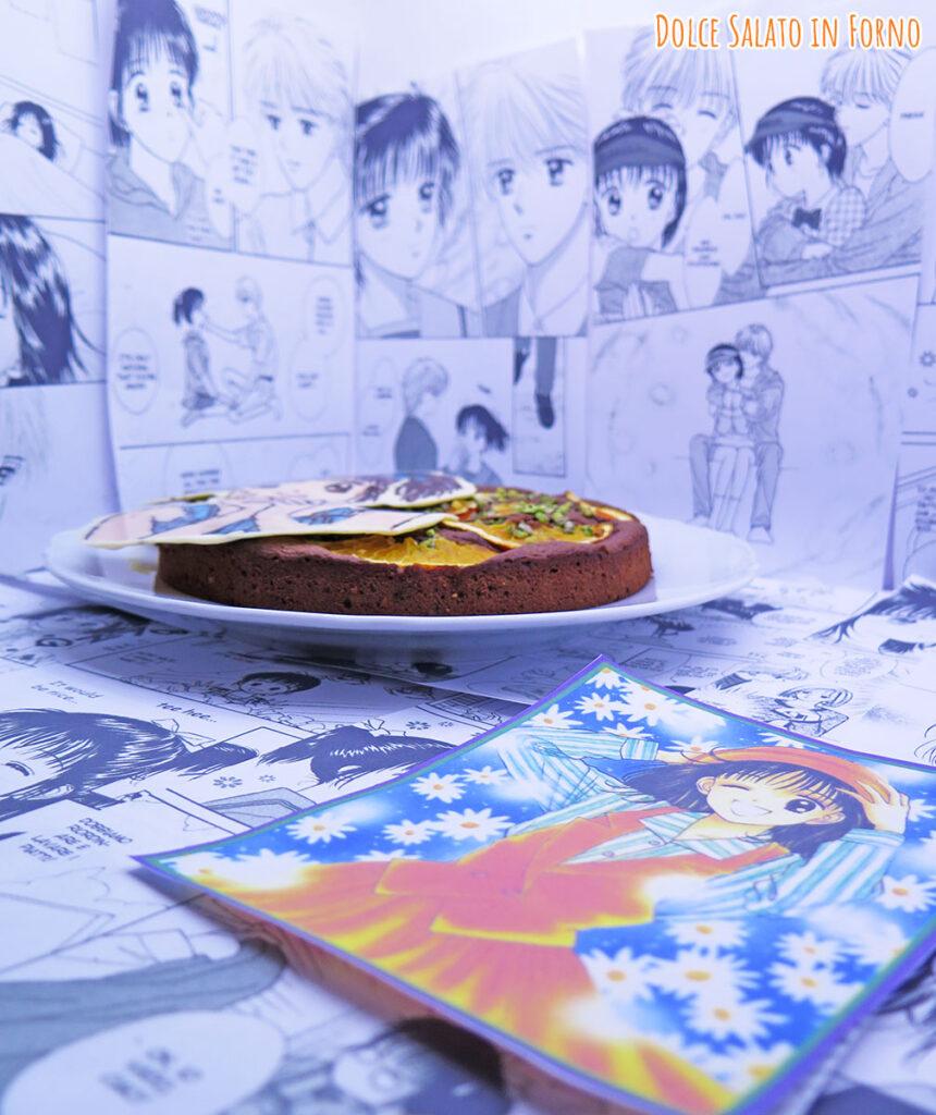 Torta cioccolato arance e nocciole di Miki Koishikawa di Marmalade Boy