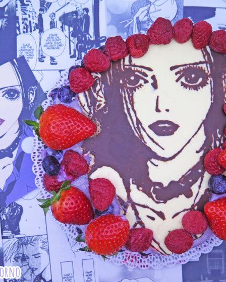 Torta al cioccolato frutti di bosco fragole ricotta di Nana Osaki di Ai Yazawa