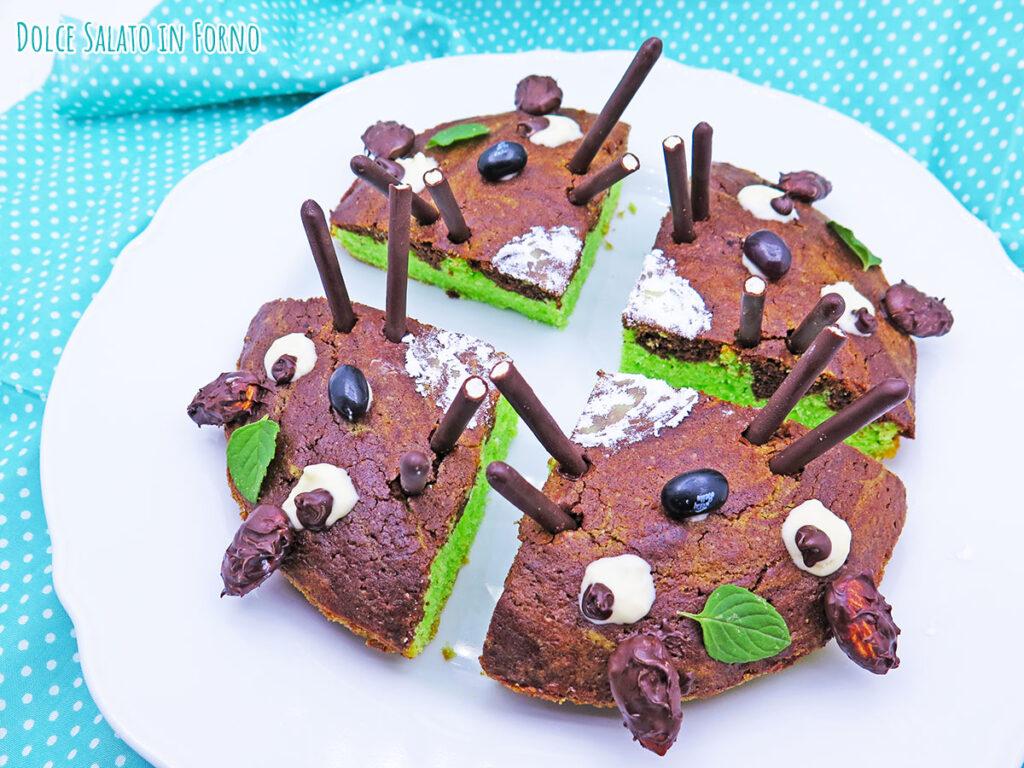 Torta menta e cioccolato di Totoro