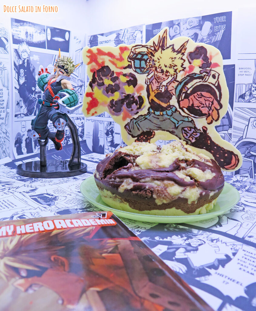 Torta esplosiva al vapore al cocco e cacao di Katsuki Bakugo di My Hero Academia