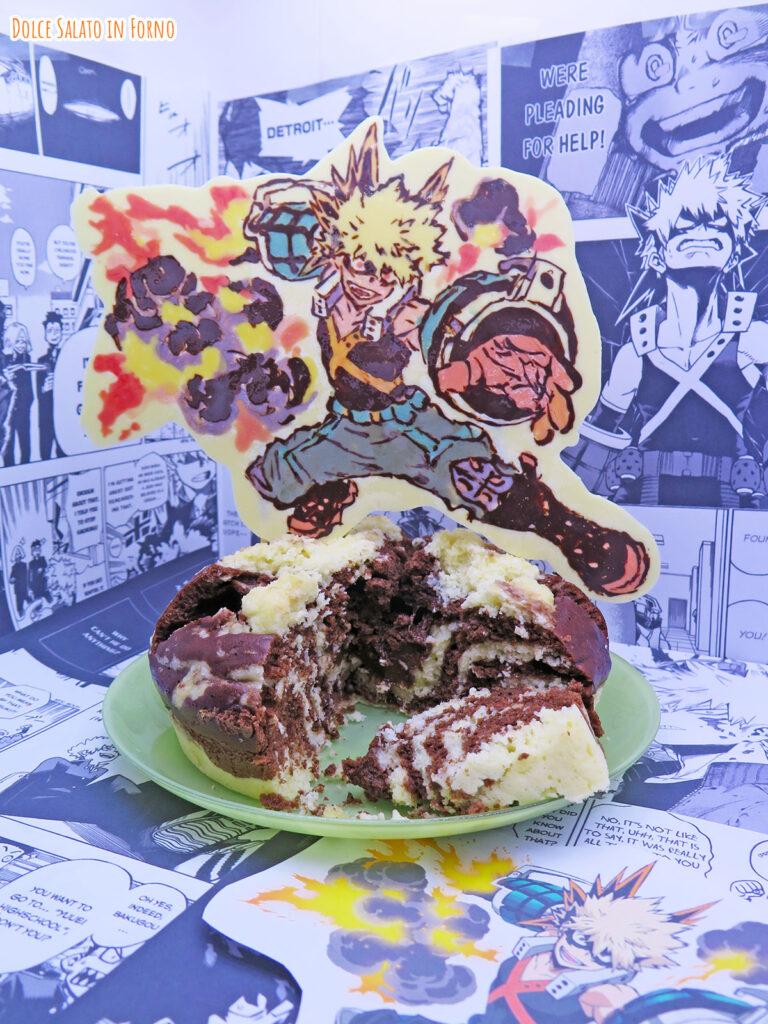 Torta esplosiva al vapore al cocco e cacao di Katsuki Bakugou MHA