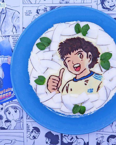 Torta fredda allo yogurt al cocco e caramello salato di Tsubasa Ozora