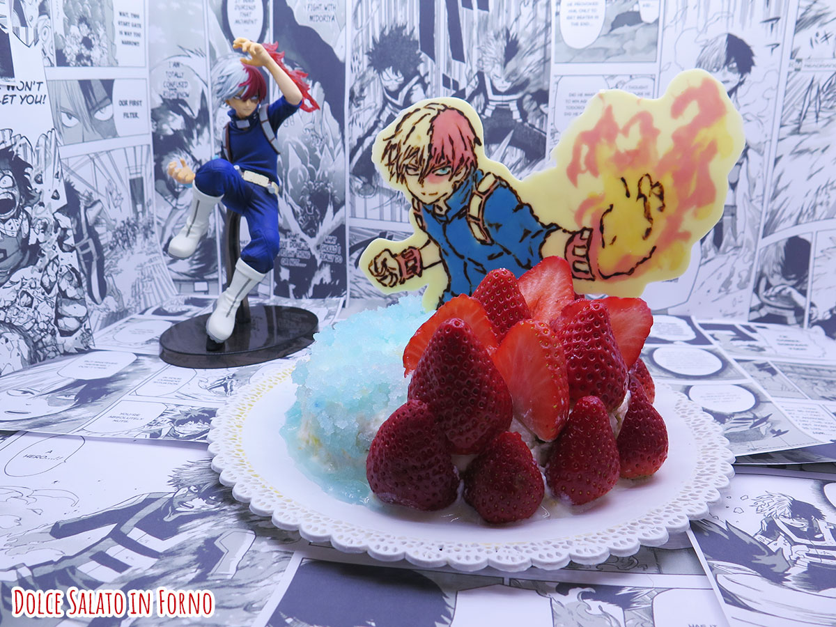 Torta limone fragola pistacchio di Shoto Todoroki di My Hero Academia