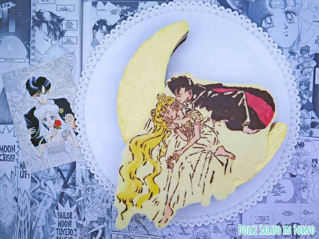 Torta mousse ai tre cioccolati di Serenity ed Endymion di Sailor Moon