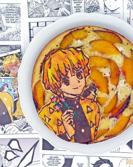 Torta di pesche fresche in padella di Zenitsu Agatsuma