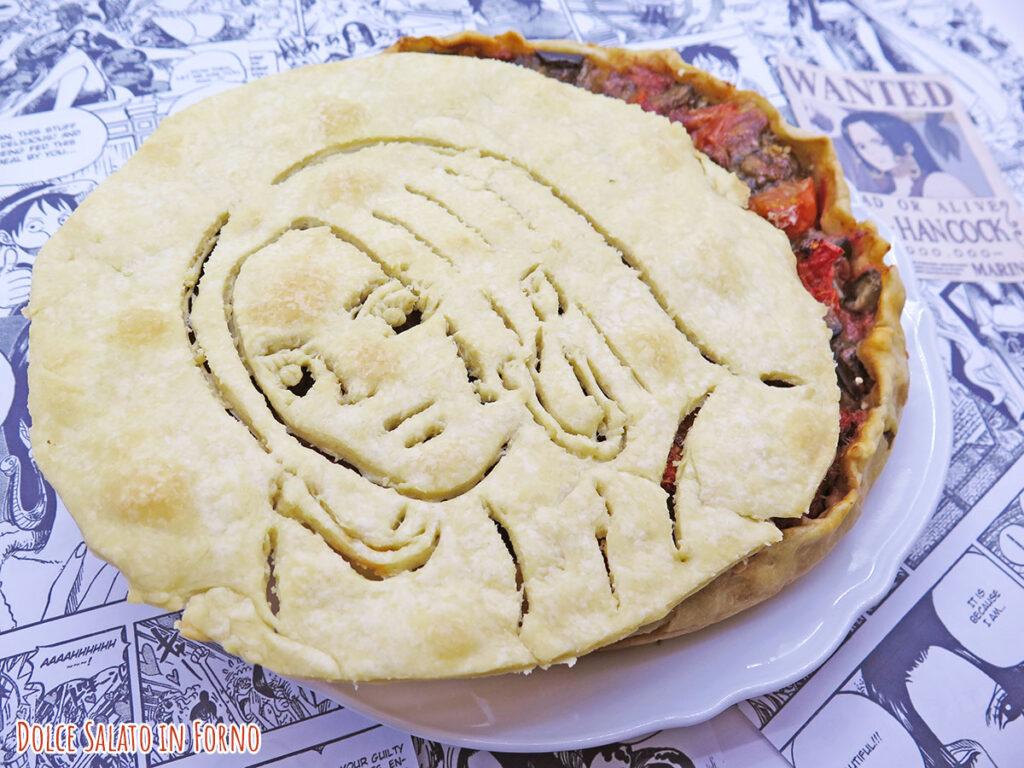 Torta salata con melanzane alla parmigiana senza frittura di Boa Hancock di One Piece