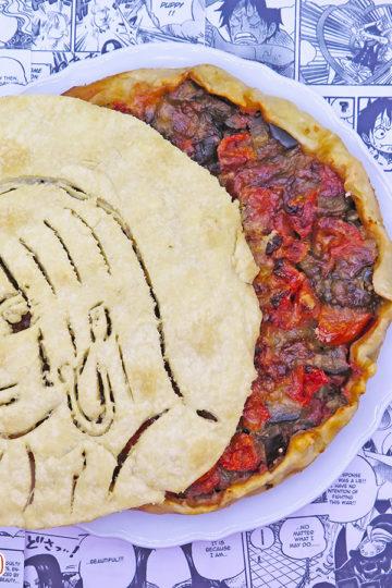 Torta salata con melanzane alla parmigiana light di Boa Hancock di One Piece